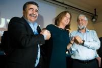 Peretz, Livni y Mitzna