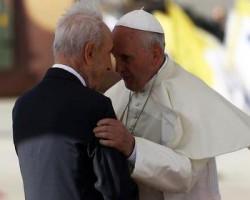 Shimón Peres y Papa Francisco