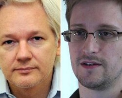 Julian Assange y  Edward Snowden